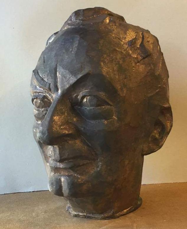 Feridun Zaimoğlu, Schriftsteller, 2016, Bronze, Höhe 33 cm
